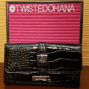 Nine West Black Vinyl Wallet